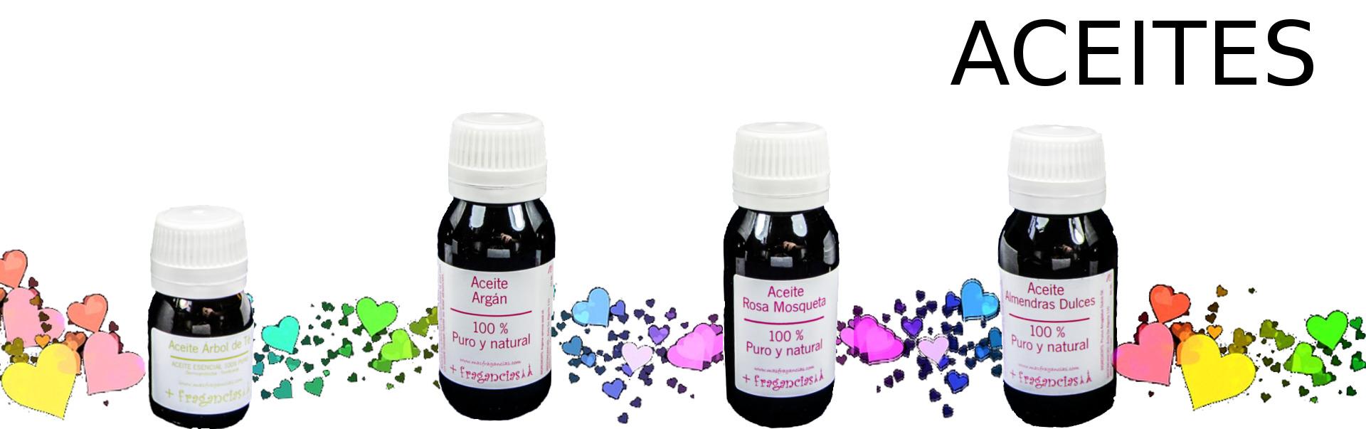 Aceites esenciales - aceites de tratamiento - masfragancias - cosmética natural
